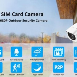 1080P 5MP HD Wireless WIFI Outdoor Security Bullet Camera